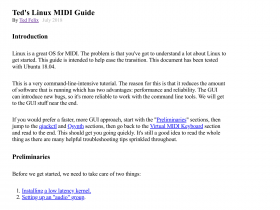 Ted's Linux MIDI Guide